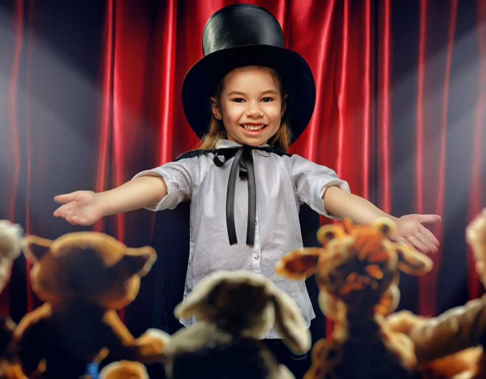 Kind als Zauberer