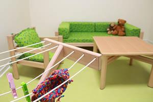 Sitzecke in der Kita Kinderspinnerei